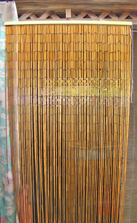 Bamboo Beaded Curtain. Divider. Boho Decor by TheGrayFedora