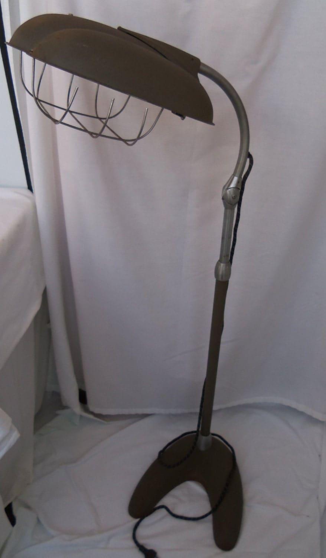 sun lamp industrial floor lamp machine age tanning heat light steam. Black Bedroom Furniture Sets. Home Design Ideas