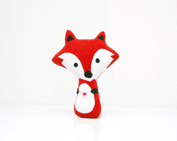 Fox Pillow - Fox Doll - Fox Toy - Fox Plush - Fox Softie