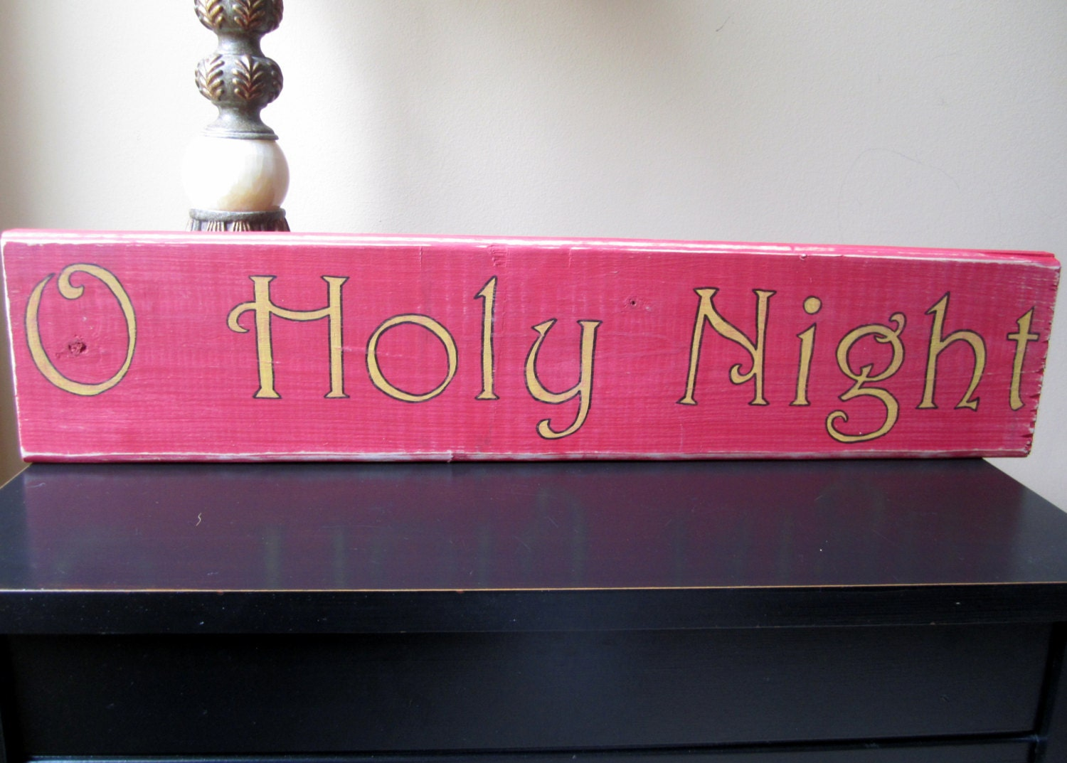 Unavailable listing on etsy for O holy night decorations