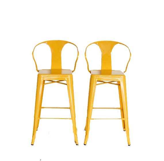 Custom tolix style arm chair bar stool in 30 bar by sugarscout - Bright colored bar stools ...