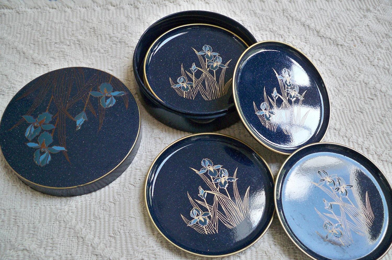 Vintage Lacquerware Otagiri Japan Coasters By