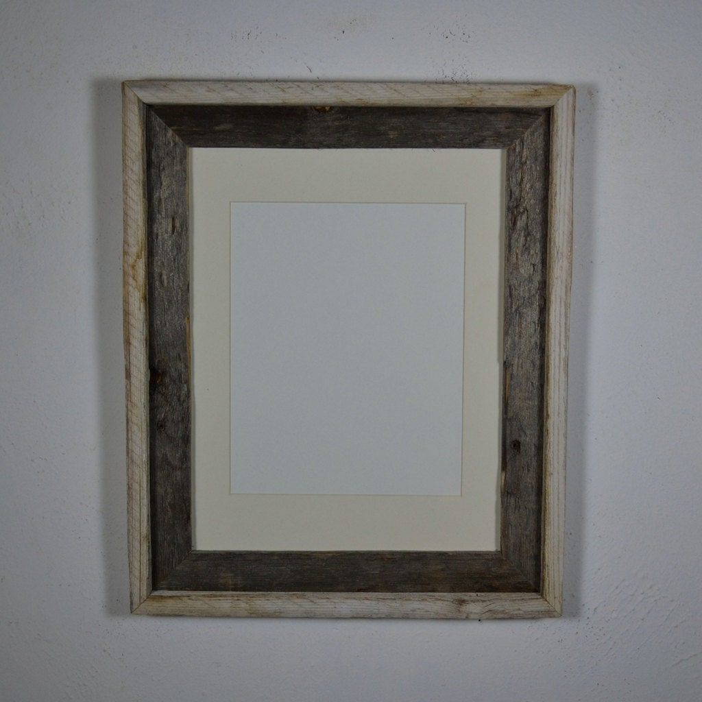 Repurposed 11x14 Wood Picture Frame With 8x10 Mat By