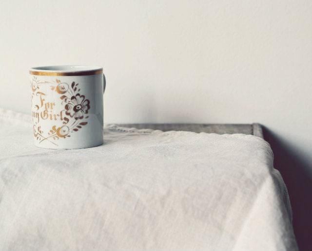Victorian Porcelain Printed Keepsake Mug, Victorian Souvenir Mug - OhDearViolet