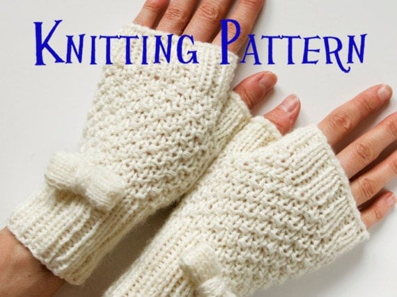 Free Knitting Patterns Gloves Half Fingers : FINGERLESS GLOVES KNITTING PATTERN WARMER WRIST   KNITTING PATTERN