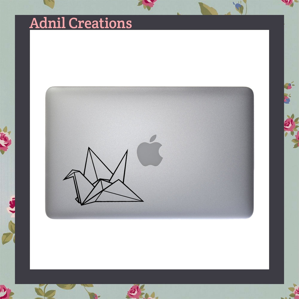Origami Crane Macbook Decal Apple Macbook iPad and other laptop stickers Mac Decal iPad Decals iPad stickers