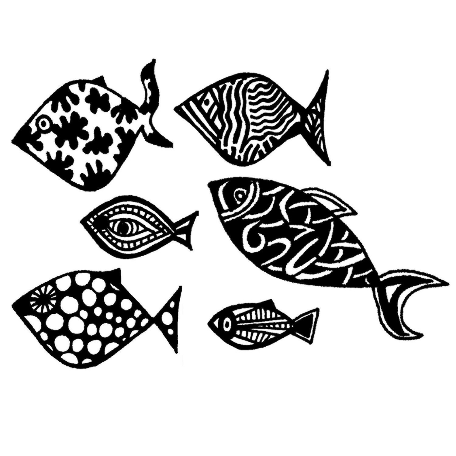 Fish notecards, set of 10 - karmabee