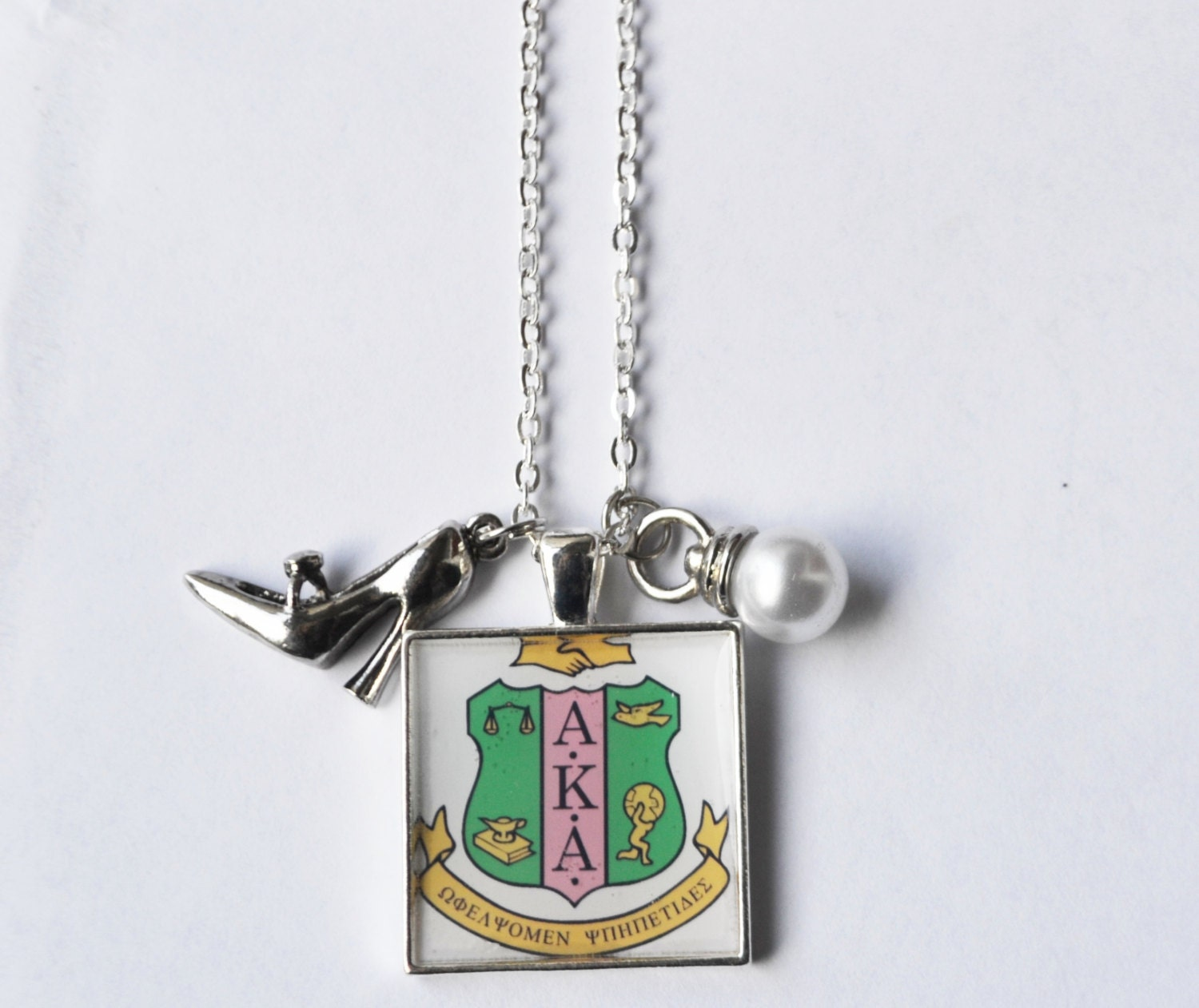 Items similar to sorority pendant necklace personalized for Sorority necklaces letters