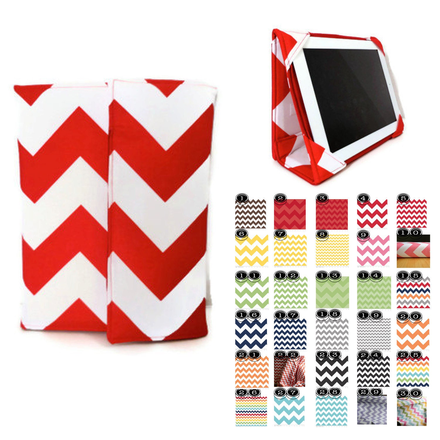 Back to School Sale, iPad cover Case Create Your Own Chevron iPad case iPad 2 cover iPad Stand Case Kindle Fire HD 8.9 case - The2SistersShoppe