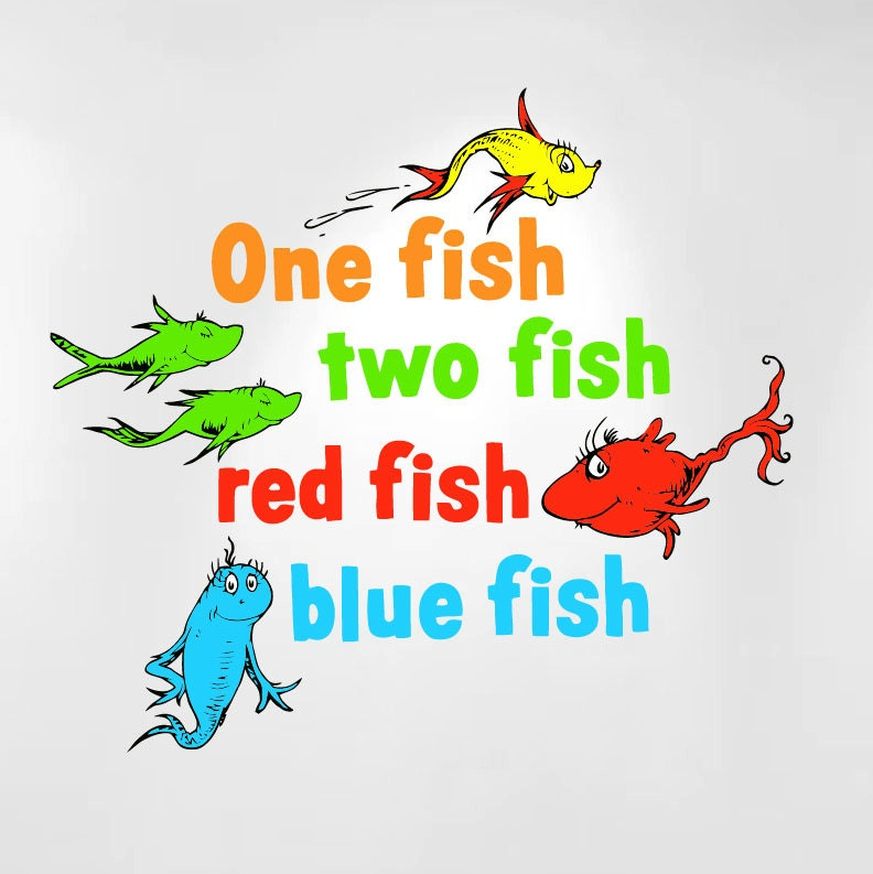 ... Fish Two Fish Red Fish Blue Fish Clip Art One fish two fish red fish