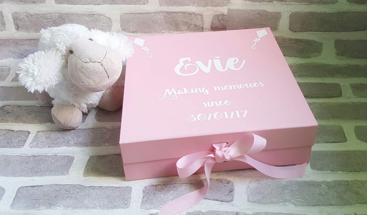 Baby Memory Box New Baby Keepsake Box Christening Box Baby Memories Box New Baby Gift Christening Gift