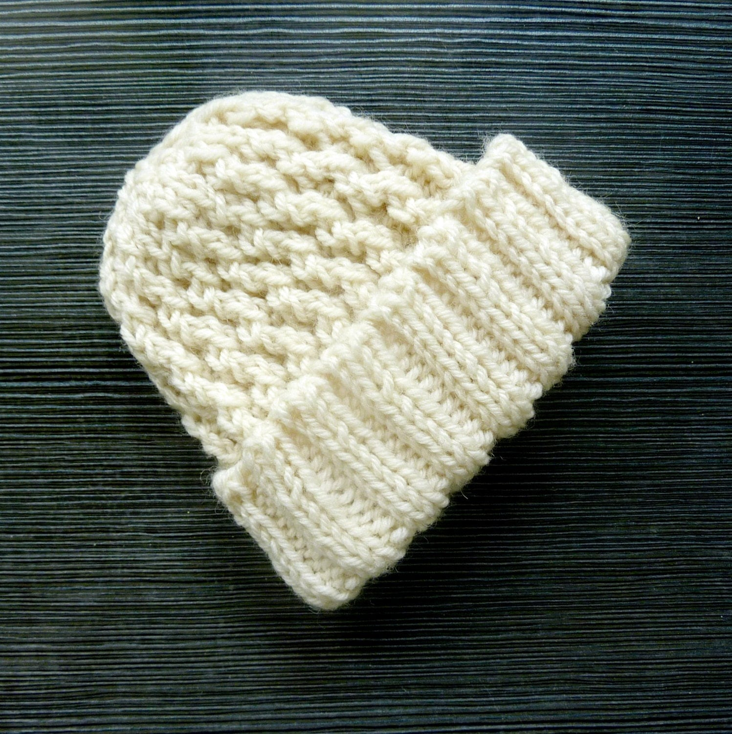 Cream baby hat baby beanie pure wool baby hat knitted baby beanie gender neutral baby hat