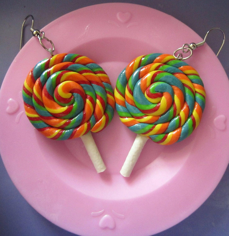 Lollipop Candy Earrings