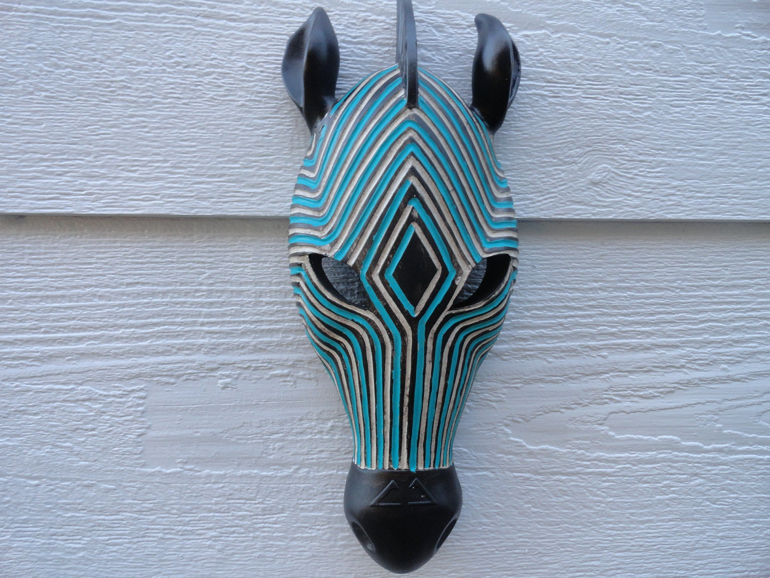 Zebra Head Wall Decor : Faux zebra wall decor taxidermy by junkintime