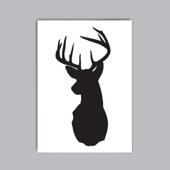 deer head silhouette printable.