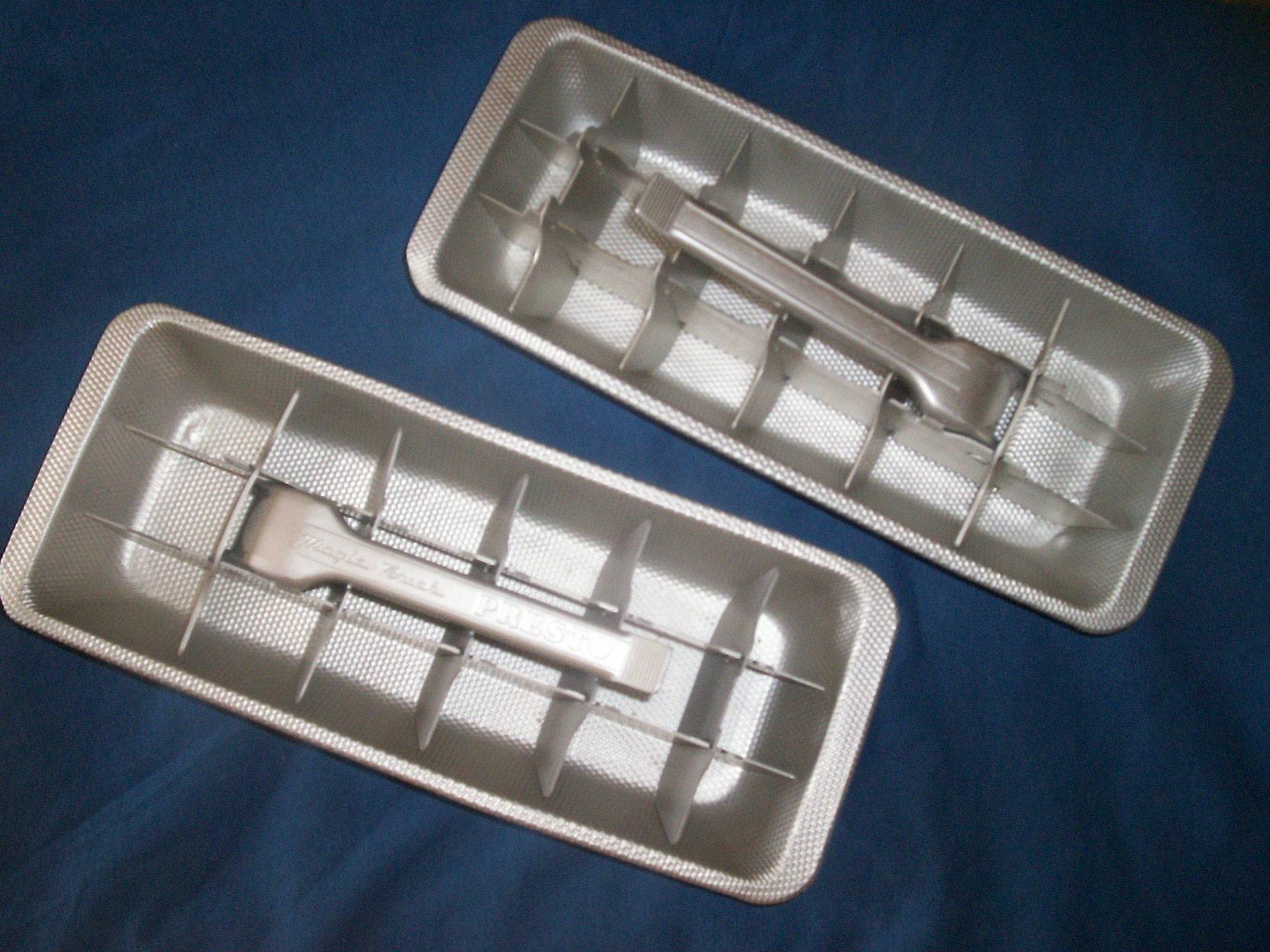 vintage metal ice cube trays by oldtreasures on etsy. Black Bedroom Furniture Sets. Home Design Ideas