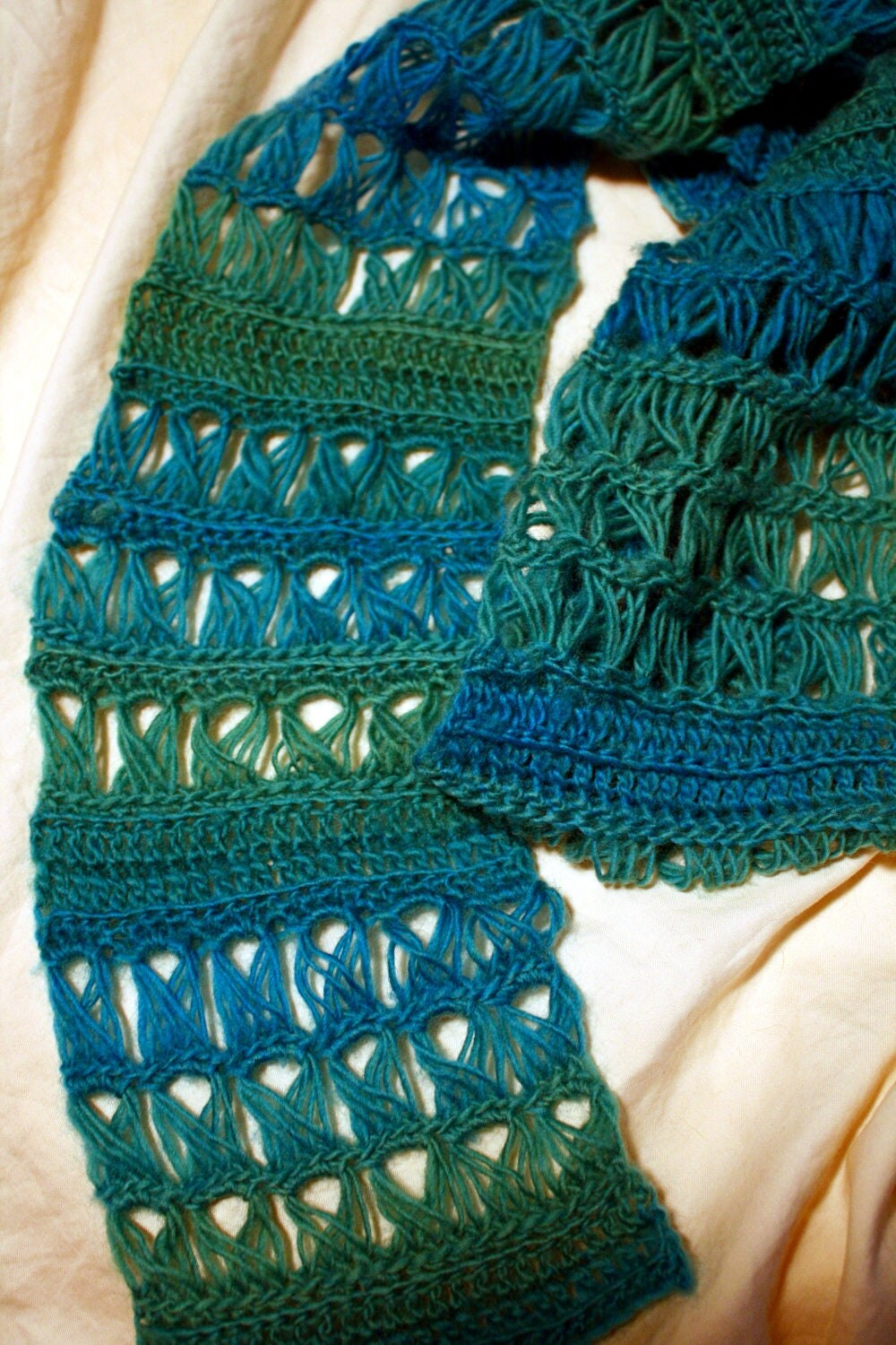 Items similar to Crochet Pattern - Easy Broomstick Lace ...