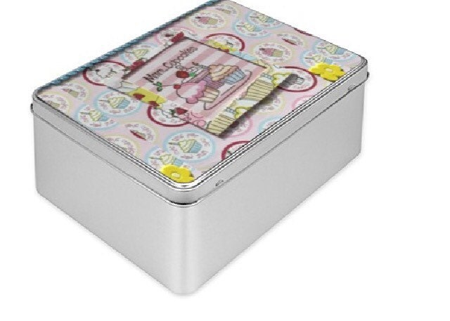 Biscuits tin Gift box tin box handmade design gift large decorative box tin storage box metal box Recipe box