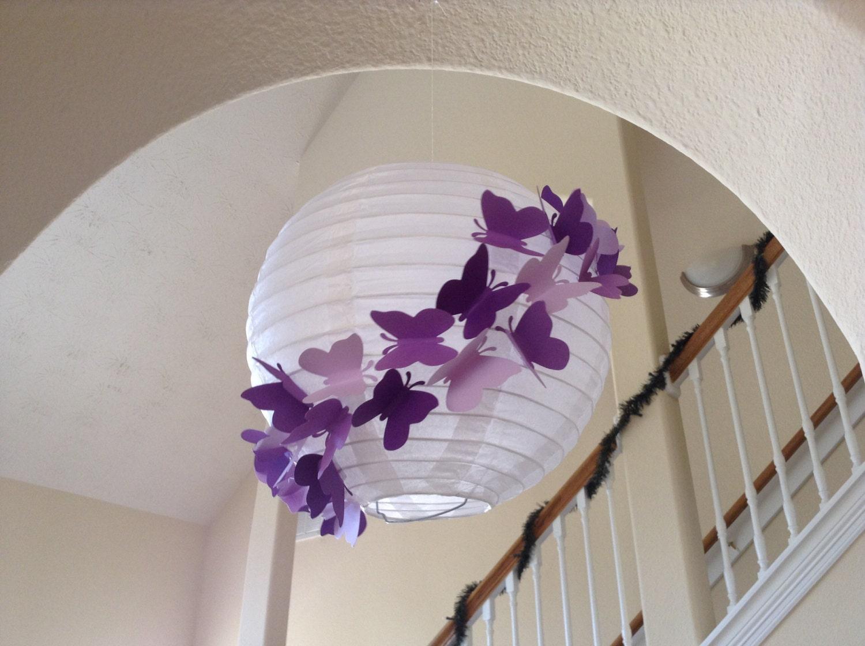 8 purple rain paper lantern butterfly lantern by new8eginnings for Making butterfly decorations