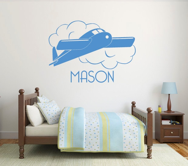 Airplane Wall Sticker Personalized Name