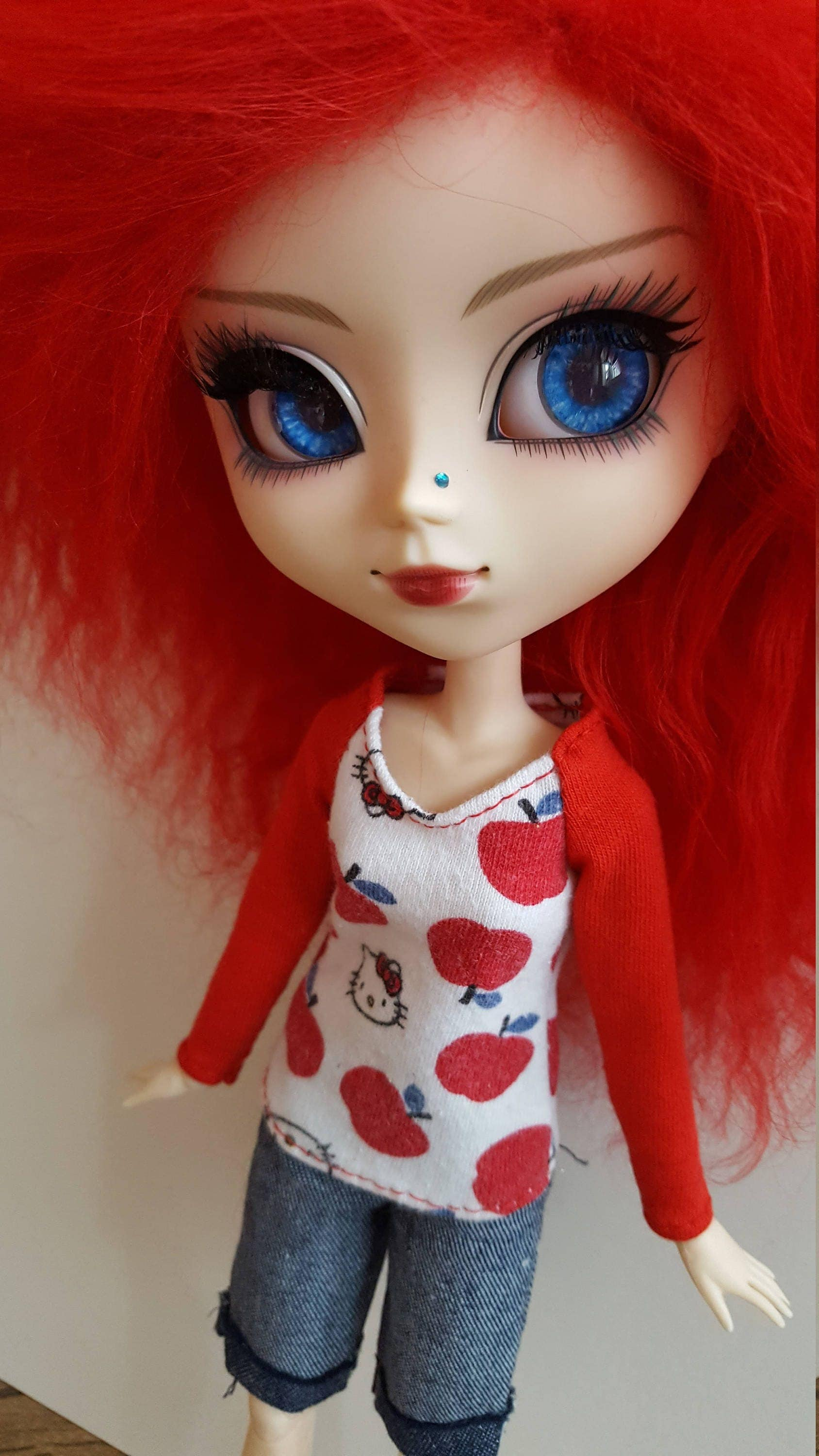 Hello Kitty long sleeved TopShirt for Pullip  red