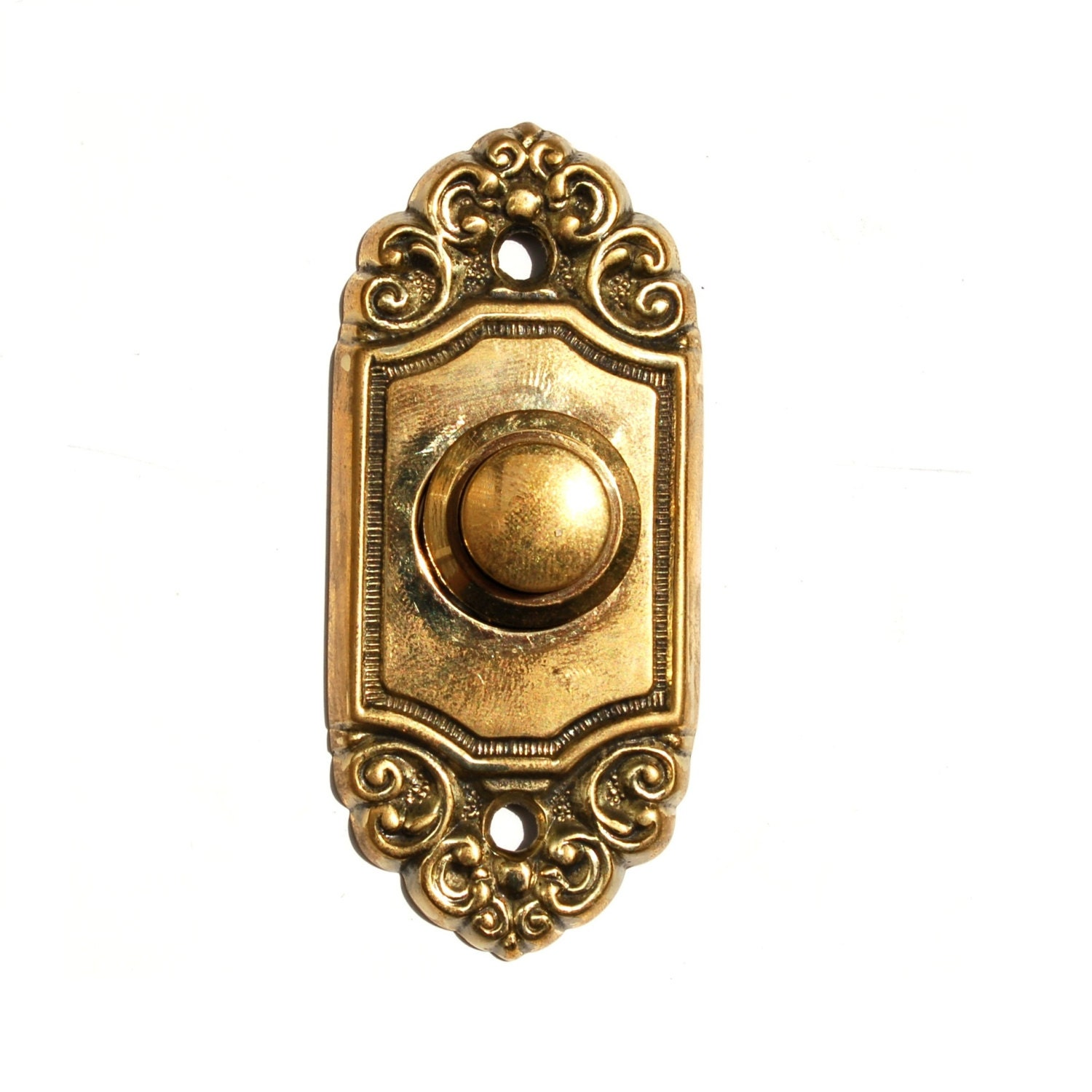 Antique Doorbell Push Button Art Nouveau Brass By Knockplease