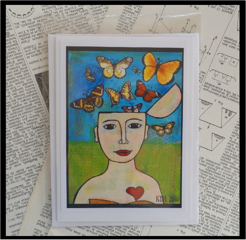 Come As You Are Original Art Note Card