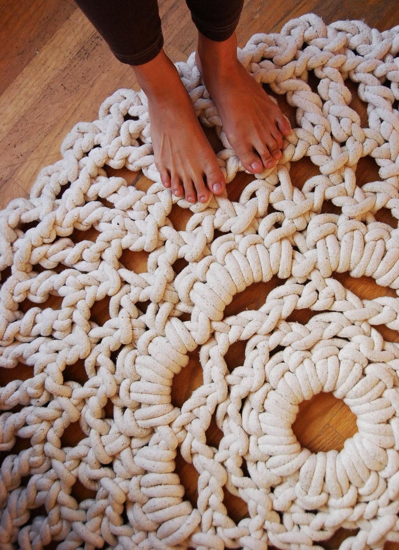 4ft Handmade Mega Doily Rug