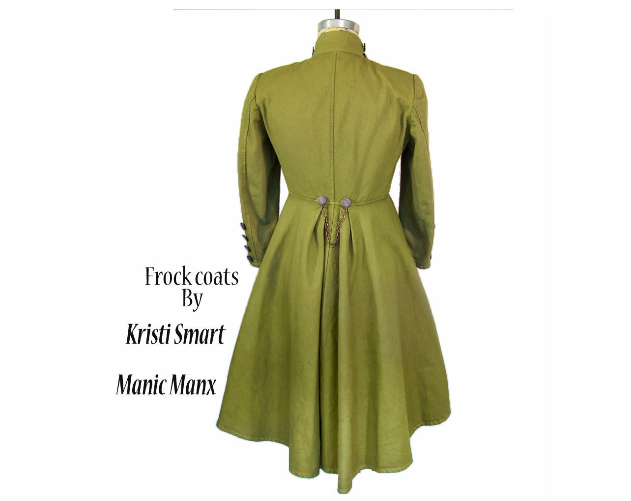 Steampunk trench coat womans size small - ManicManx
