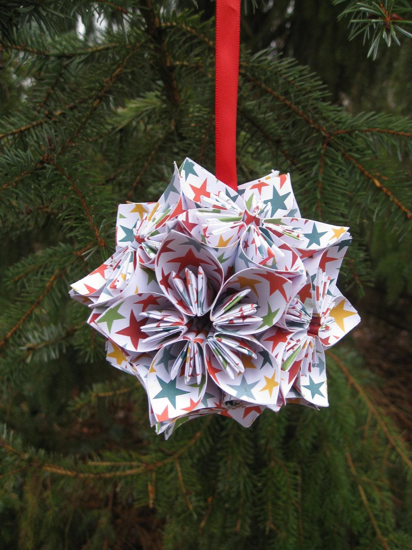 Items Similar To RAINBOW STAR Kusudama Flower Ball Origami Decoration Wedding ShowerHome