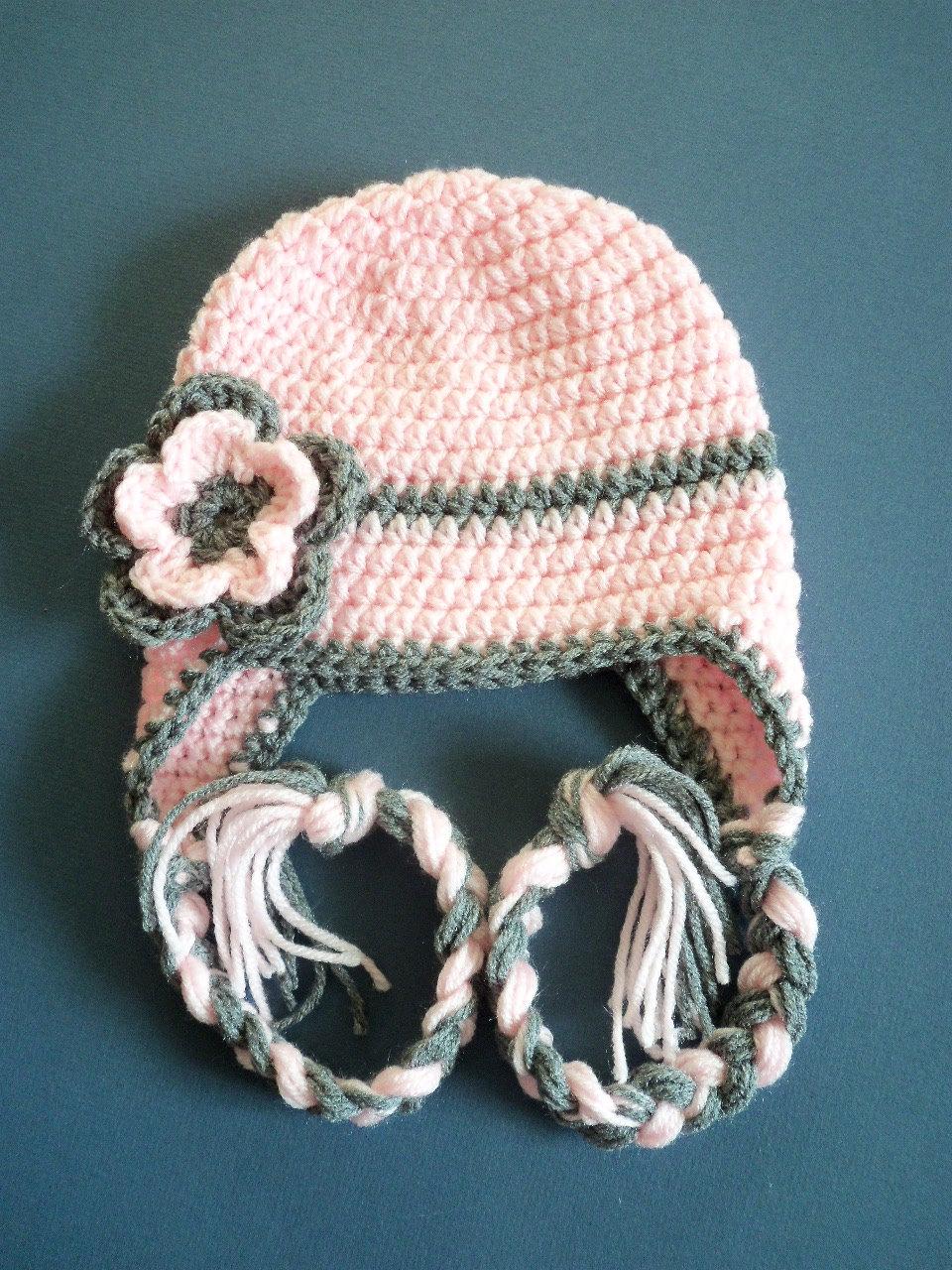 Children Crochet Hat Crochet Earflap HatToddler Hat by ...