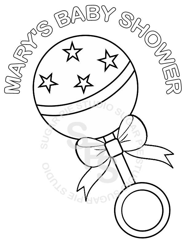 free coloring pages baby shower - photo#36