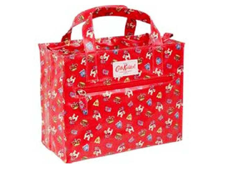 Cath Kidston Red Carry All Top Handle Bag  Era 90s Timeless