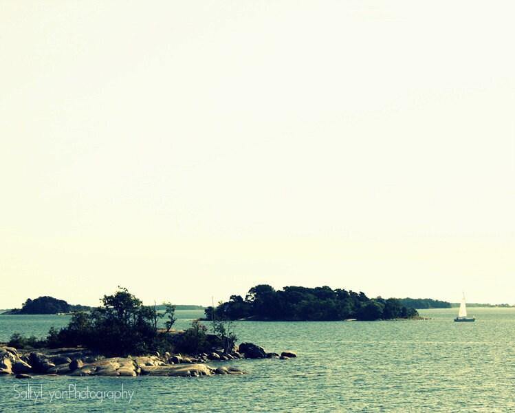 Coastal Photography, Stockholm Archipelago, Sweden, Scandinavia, Modern Fine Art Print, 8x10 - SaltyLyonPhotography