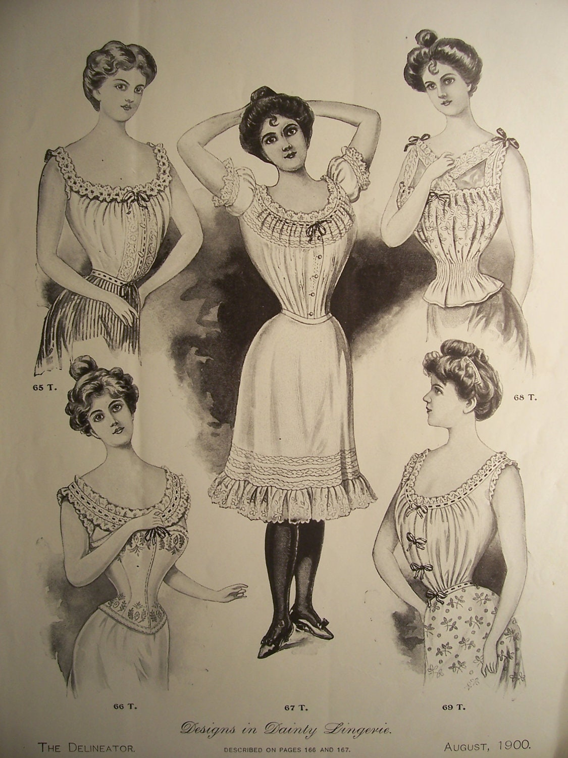 VINTAGE LINGERIE FASHIONS /1900s Pattern by ...