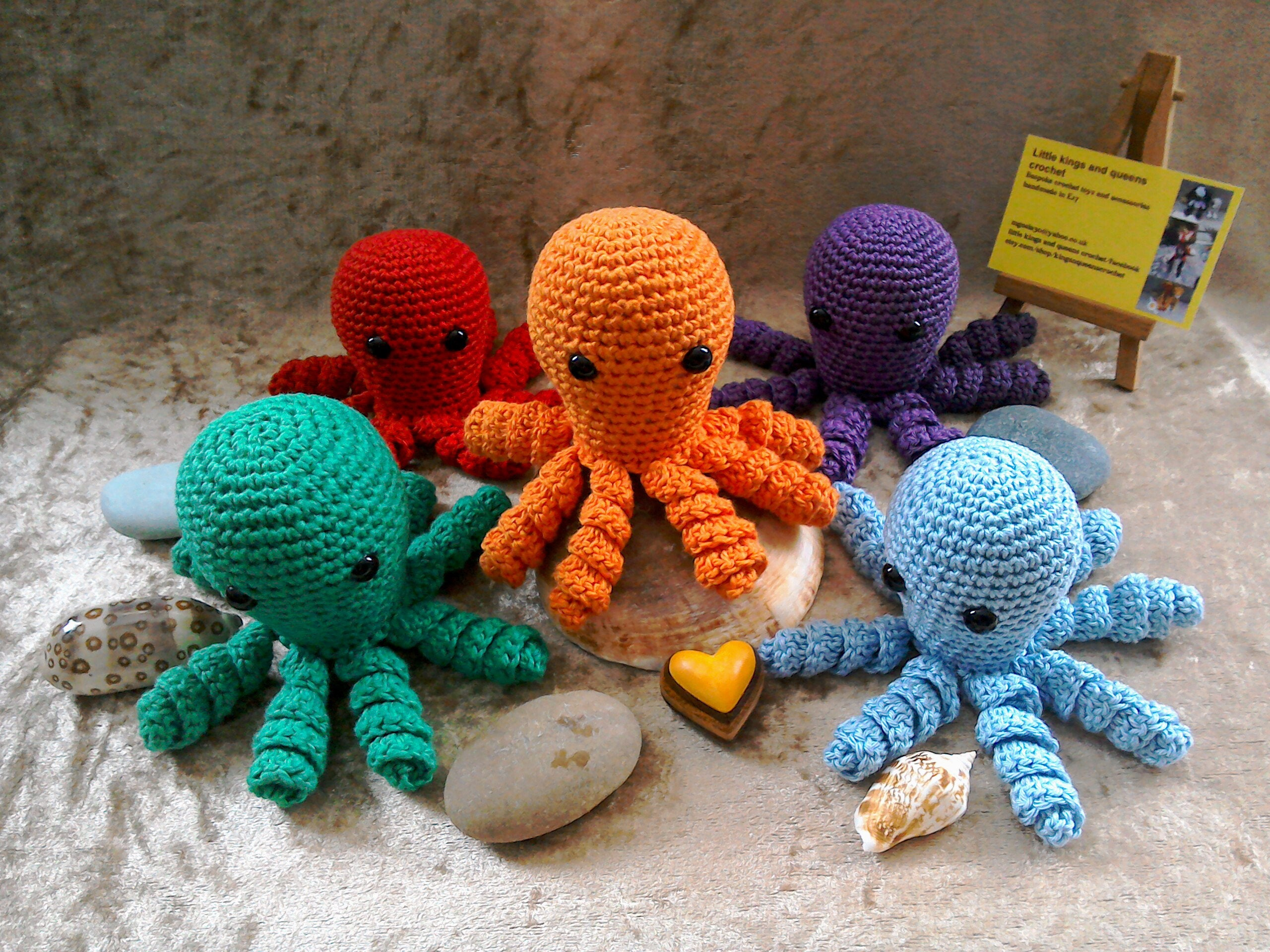 Organic cotton crochet octopus premature baby toy soft toy tiny octopus sea life animal  crochet toys stuffed animals baby shower gift