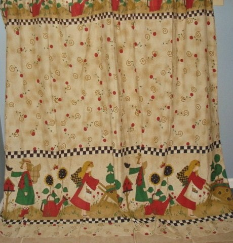 country cottage fabric shower curtain by fabulous5 on etsy