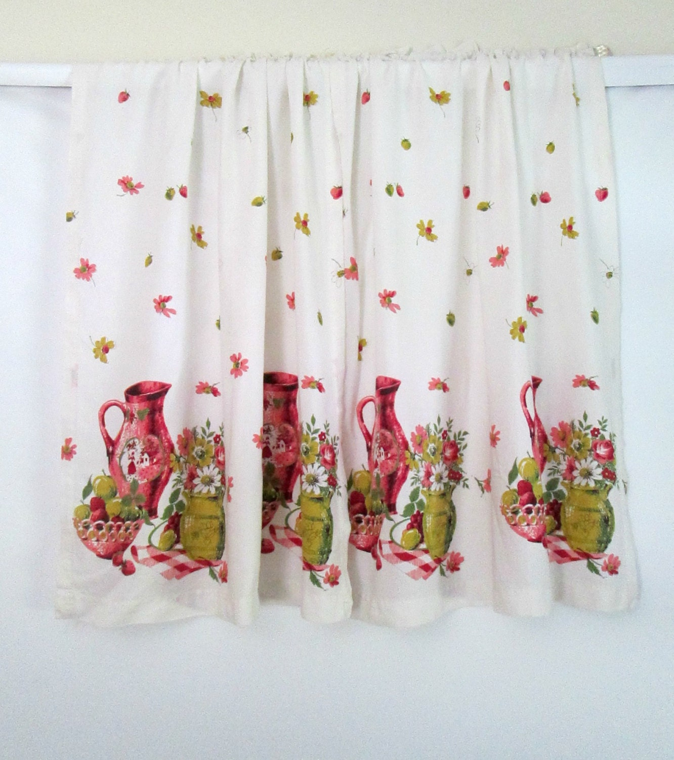 Vintage 1960s Curtains Kitchen Bathroom One By