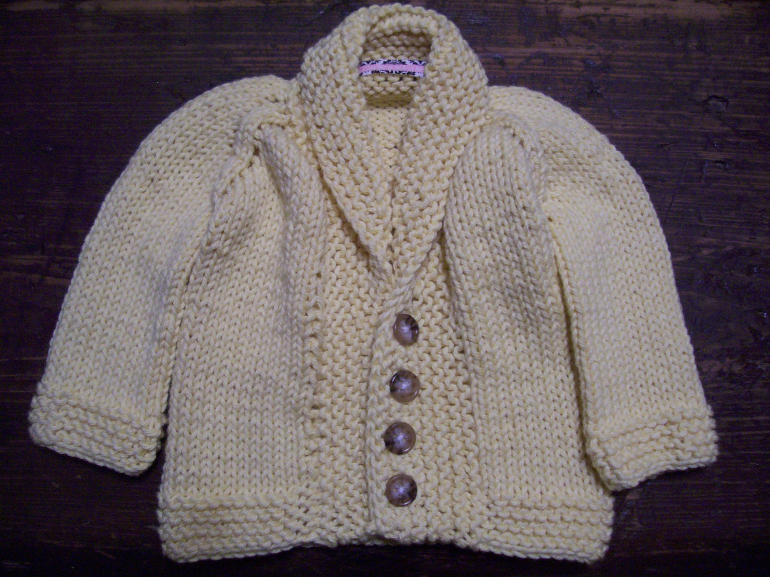 SALE 0 to 3 Month Cardigan in Pale Yellow Made with 100% Cotton