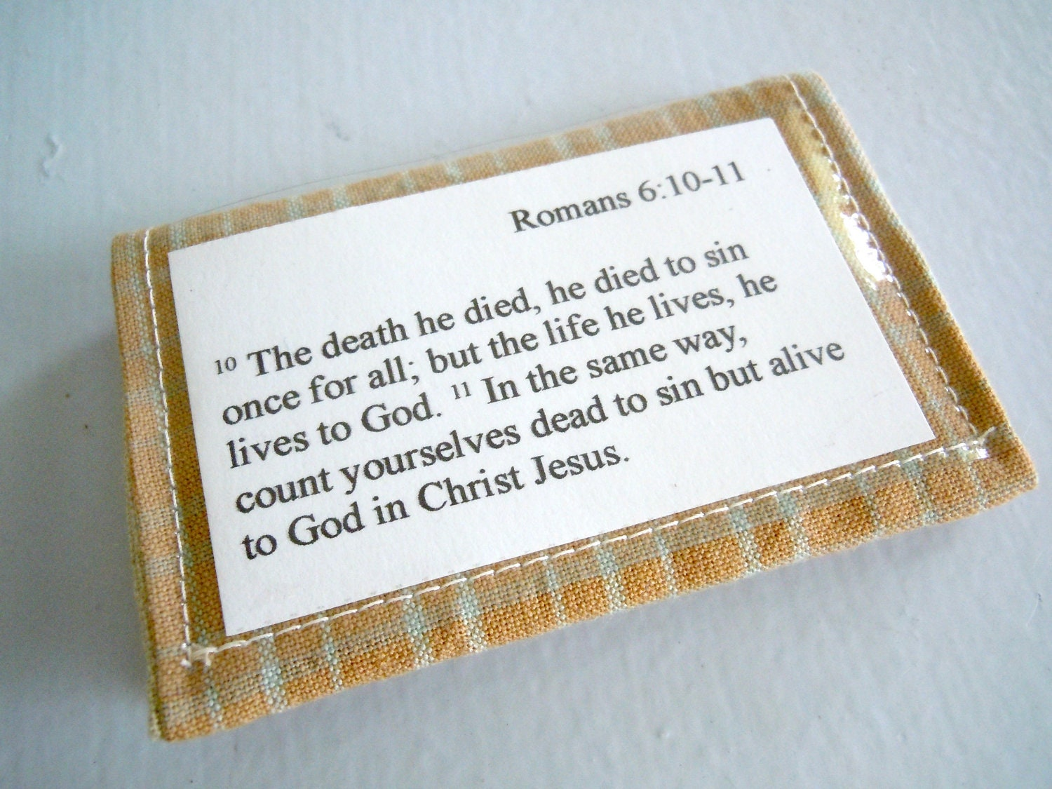 Scripture Memory Verse Card Holder - Back to School