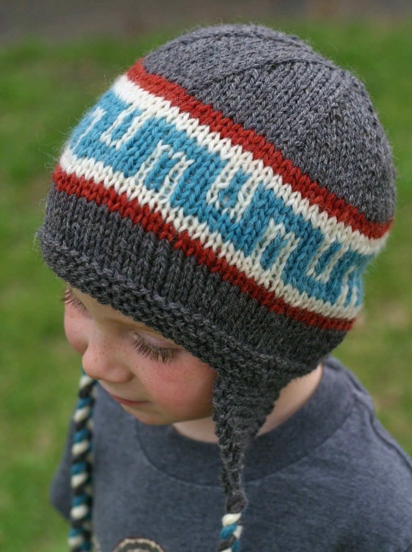 Knitting Pattern Talavera Ear Flap Hat by TheSittingTree