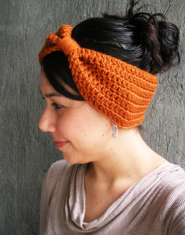 PDF PATTERN Crochet Earwarmer Headband Big Hair Bow by ...