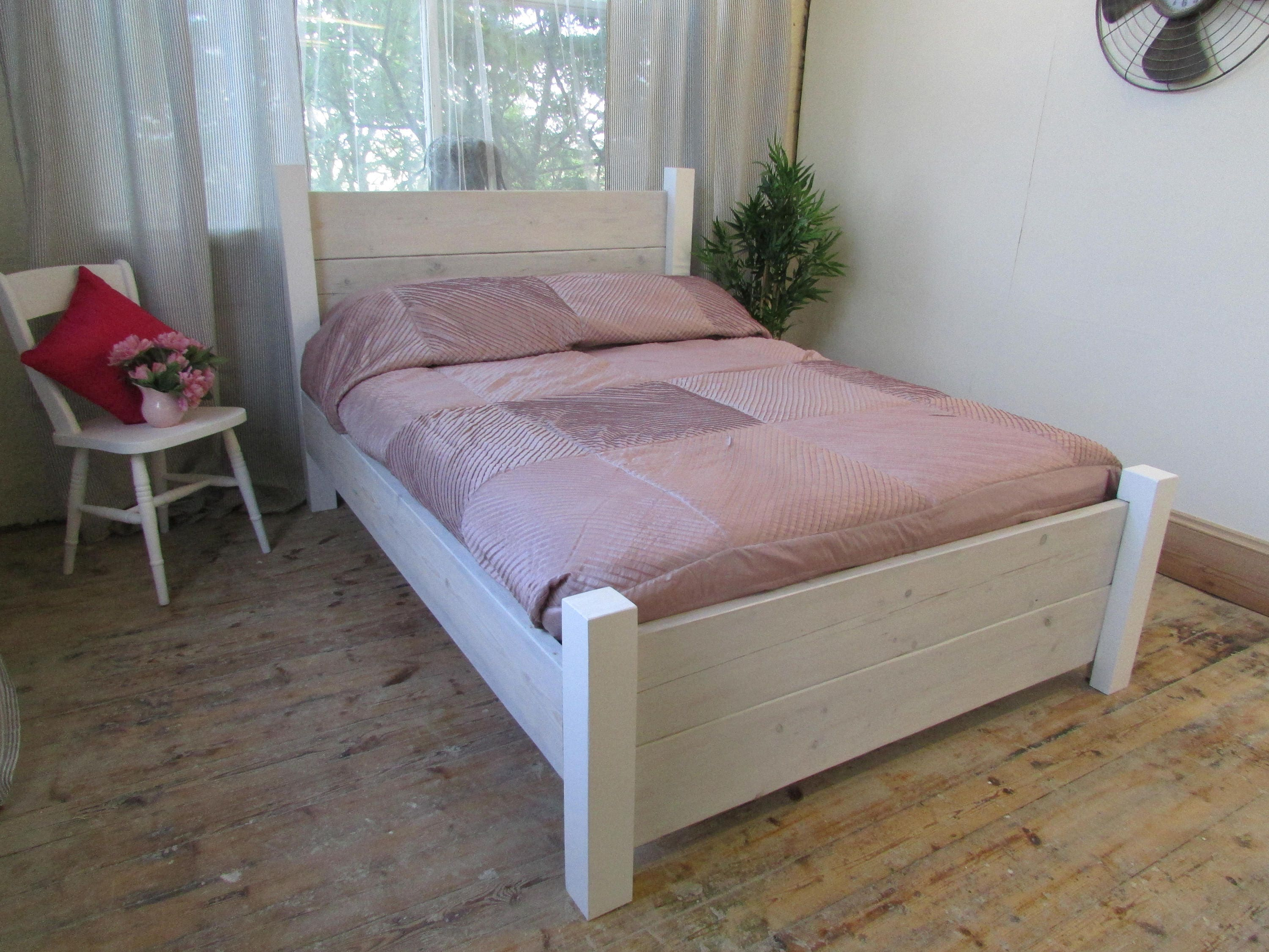 INTRODUCTORY OFFER Bespoke Rustic 5ft King Size Colour Wash Plank Bed Frame  (available in other colours)