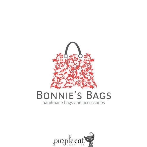 Top Logo Design designer bags logos : Items similar to Ready Made Vintage Handbag Purse Logo Design on Etsy.
