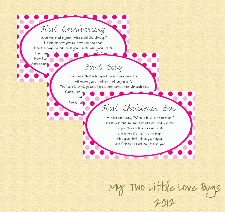 Items similar to Bridal Shower Wine Basket Poem Tags Gift ...