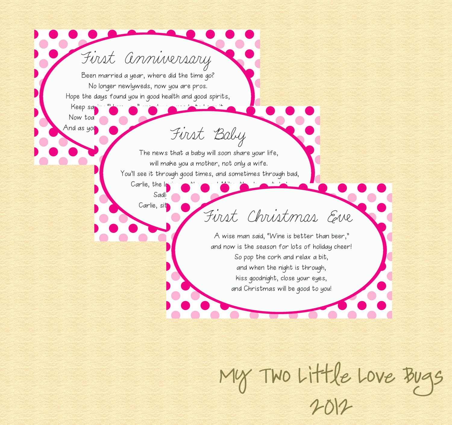Wedding Shower Gift Basket Poem : Bridal Shower Wine Basket Poem Tags GiftSet of 6 Printables- Pink ...