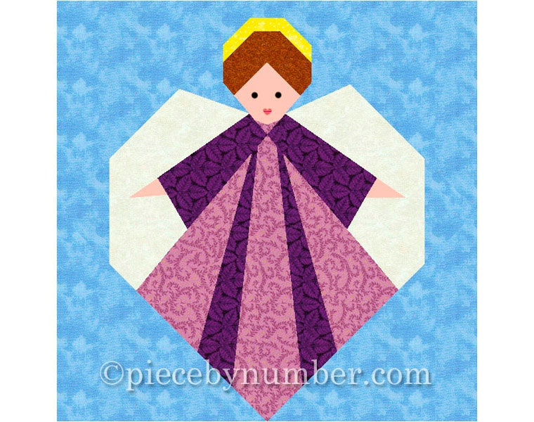 Guardian Angel Quilt Block Paper Pieced By Piecebynumberquilts