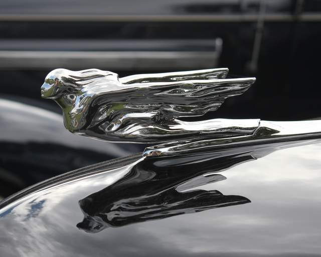 items similar to vintage 41 cadillac flying lady hood ornament   photograph  black  silver