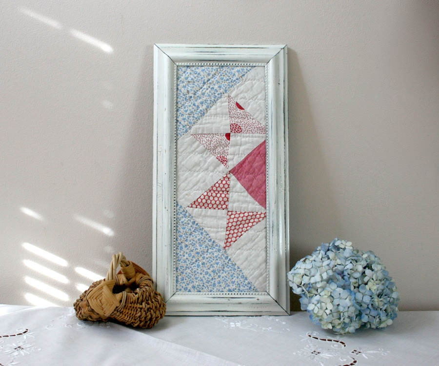 cutter quilt in frame framed quilt piece by theheirloomshoppe