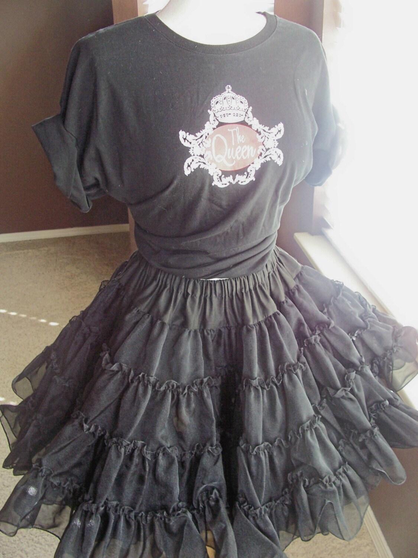 vintage black crinoline petticoat frou frou by glamtownvintage